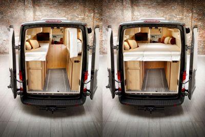 Komfortabler Schlafraum mit einer 190x170cm Matratze