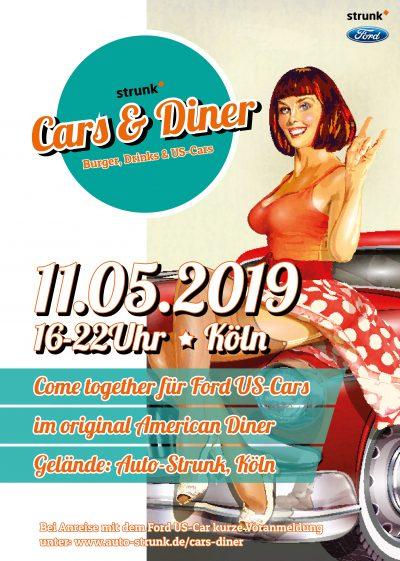 Flyer Cars & Diner Treffen Köln US Cars