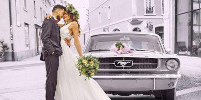 Silberne Hochzeit mit einem Ford Mustang