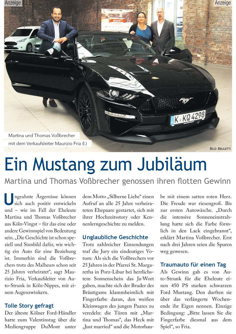 Silberne Liebe - Ford Mustang